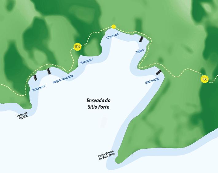 Enseada de Sitio Forte na Ilha Grande.