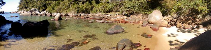 Panoramica da Praia do Jurubá - Ilha Grande