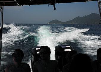 Natiga - Flexboat barco Araçatiba, aventureiro, Proveta, longa, vermelha, bananal, Sitio Forte - Ilha Grande RJ