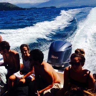 Barco de Paraty para Abraão, Ilha Grande - RJ