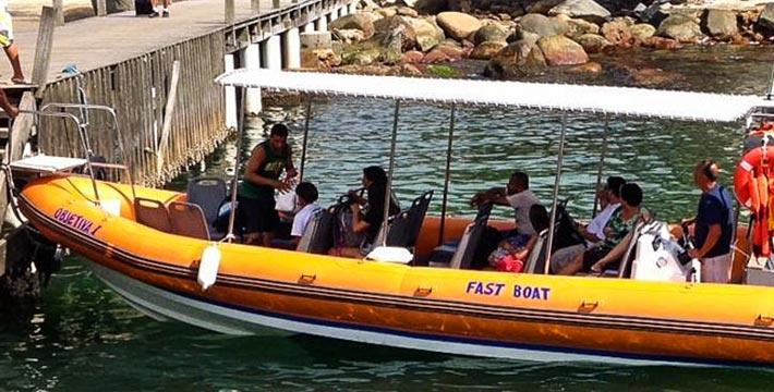 Barco rápido para Ilha Grande