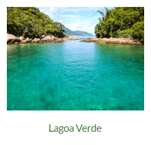 Lagoa Verde - atrativos naturais - Ilha Grande - RJ