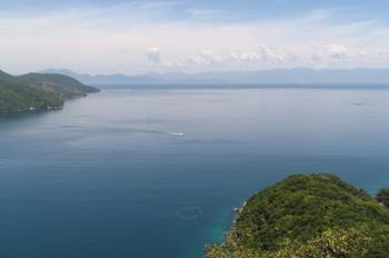 Continente visto do Mirante da Lagoa Verde