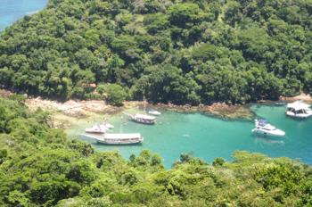 Lagoa Verde vista do alto do mirante