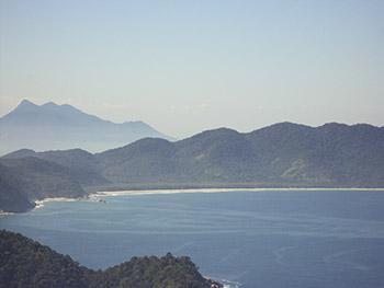 Praias de Santo Antonio e Lopes Mendes, vistas do pico de Dois Rios