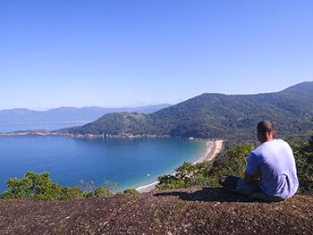 Praia da Parnaioca vista do Mirante do João