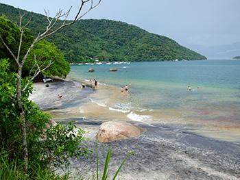 Praia Preta - Encontro do rio com o mar - Ilha Grande - RJ