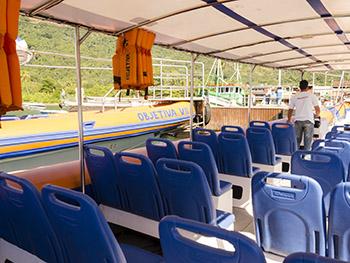Flexboat de Conceição de Jacareí para Vila do Abraão, Ilha Grande, barco rápido