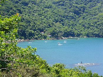 Vista do Mirante da Praia Preta - Abraão - Ilha Grande - RJ