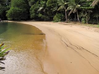 A Praia do Marinheiro possui águas claras e muita sombra