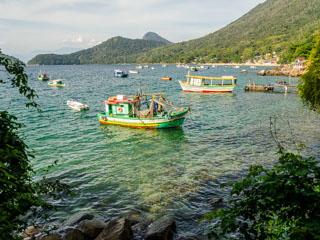 Daqui podemos ver o cais da Praia do Viana