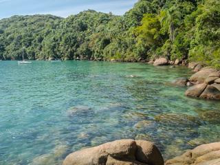 E assim são as águas próximas a Praia da Itaoquinha