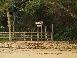 Existe apenas uma propriedade particular na Praia do Iguaçú